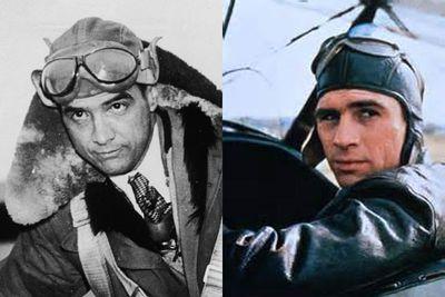 Left: Howard Hughes / Right: Tommy Lee Jones