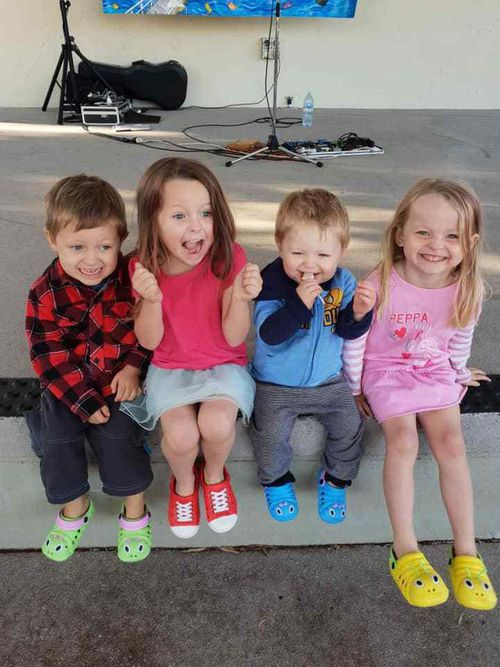 Aaleyn, 6, Matilda, 5, Wyatt, 4, and Zaidok, 2 were killed in the crash.