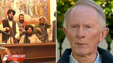Aussie father fears son 'died in vain' in Afghanistan following Taliban takeover.