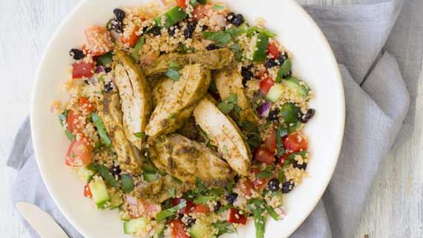 Nadia Lim's chermoula chicken with currant couscous and yoghurt