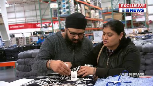 Consumers are now able to buy brands like Sportscraft, Bettina Liano and JAG at Costco. Picture: 9NEWS
