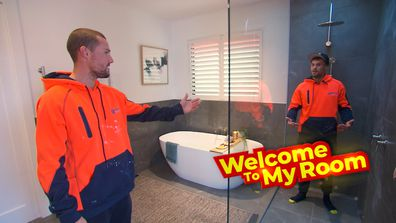 Welcome To My Room: Josh and Luke show off the 'main feature' of their bathroom