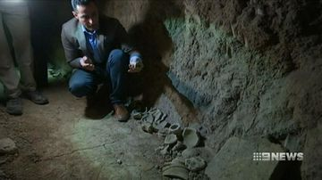 VIDEO: Ancient palace discovered beneath shrine destroyed by ISIS