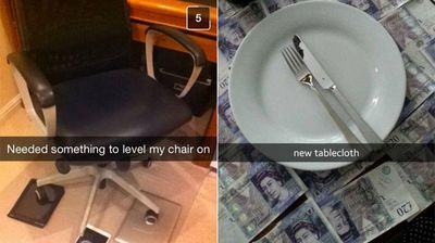 Extravagant wealth mixed with cringeworthy excess. (Private School Snapchats)
