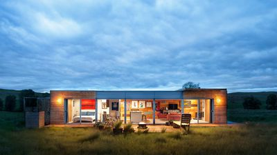 This double shipping container makes one very cool home