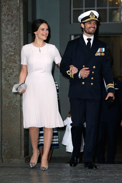 Princess Sofia and Prince Carl Philip of Sweden at a thanksgiving service in Sweden, April, 2016