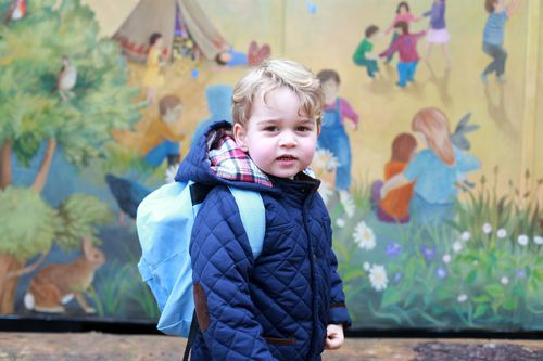 Prince George on his first day of nursery school. (AAP)