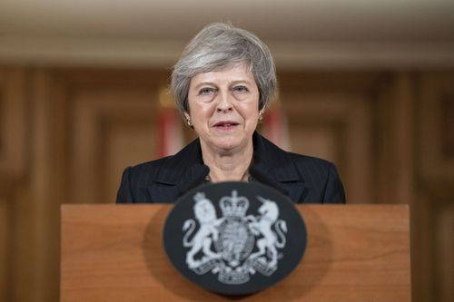 Mrs May looked tired, shaken, but determined at her press conference.