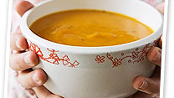 Pumpkin and tomato soup