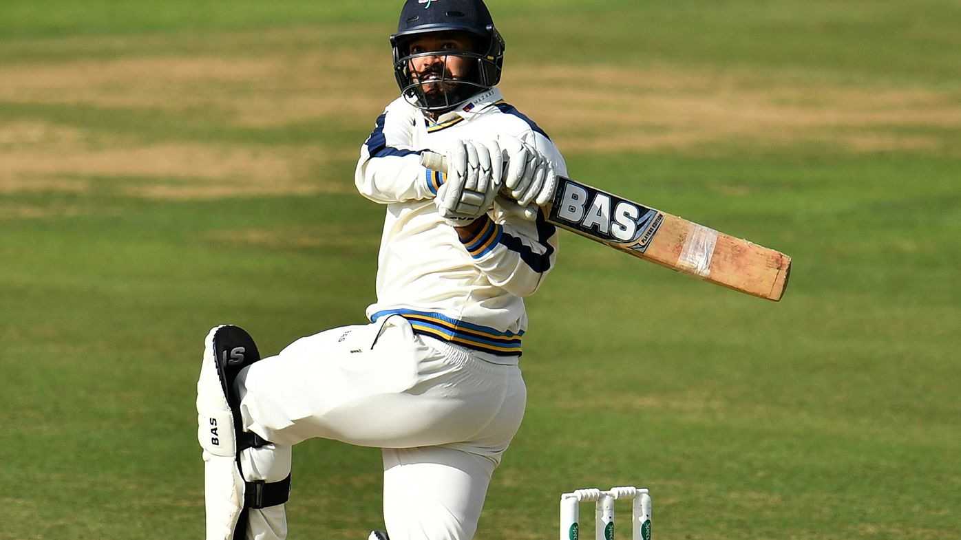 Azeem Rafiq batting for Yorkshire in 2016.