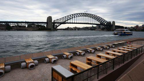A quiet Sydney due to coronavirus restrictions.