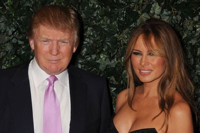 <p>Age gap: 28 years</p>Donald had no trouble finding a new younger wife to replace his unfaithful second wife Marla.<p>Trump logic: an extra decade between will alleviate infidelity.</p>