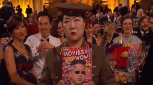 Margaret Cho's North Korean general was not really enjoying the ceremony.