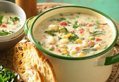 """Recipe:&nbsp;<a href=""""/recipes/other/8348671/lactose-free-hearty-chowder"""">Lactose free hearty chowder</a>"""