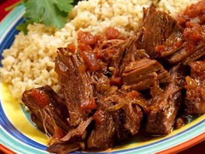 Friday: Slow-roasted beef with medium grain rice