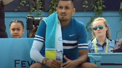 BBC forced to apologise live on-air after Kyrgios' lewd gesture