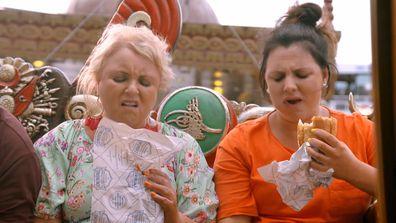 The Fren family gag over fish burgers