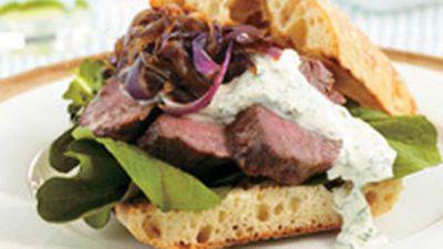 "<a href=""http://kitchen.nine.com.au/2016/05/18/05/06/lamb-on-turkish-bread"" target=""_top"">Lamb on Turkish bread</a> recipe"