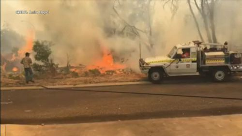 It's believed at least four homes have been lost.