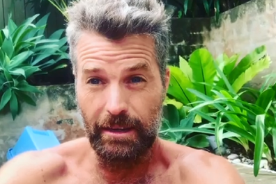 Pete Evans asking his daughters to shave his head on Instagram.