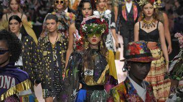 Dolce & Gabbana's Spring/Summer 2019 as seen during Milan Fashion Week.