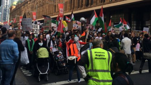 Pro-Palestinian protesters march through Sydney and Melbourne as conflict erupts again