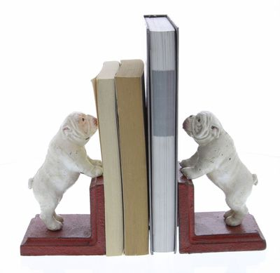 """<a href=""""https://www.mattblatt.com.au/antique-look-bulldog-bookends"""" target=""""_blank"""">Matt Blatt Bulldog Bookends, $89.</a>"""