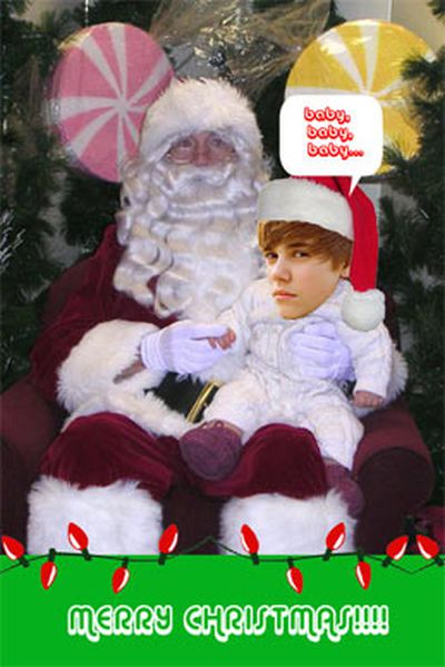 Same goes for this Justin Beiber card.