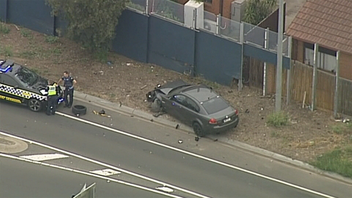 Police continue to search for the offending Holden driver.