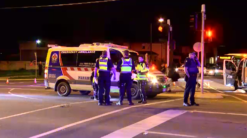 A 15-year-old boy is fighting for life after he was hit by a bus in Doreen, Melbourne yesterday evening.