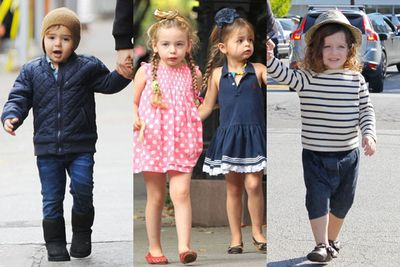 <br/><br/>They wear uber cool beanies, brightly-coloured bombers and lots of leather...oh, and they are all under the age of ten.<br/><br/>Tinseltown sure know how to dress their tiny tots, setting these stylish kiddies apart from the rest!<br/><br/>Have a flick through our fave mini-fashionistas...