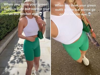 Woman's wardrobe malfunction results in hilarious tourist photo snap: 'Doing me dirty'