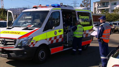 A woman is critical and a man suffered serious head injuries. Image: 9News