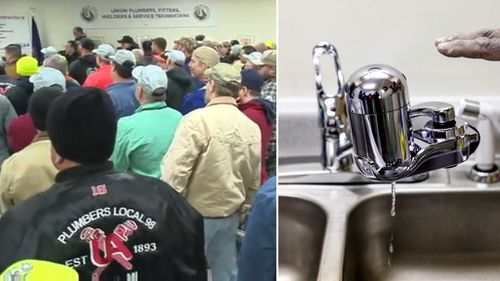 Hundreds of plumbers volunteer to install free water filters for Flint residents