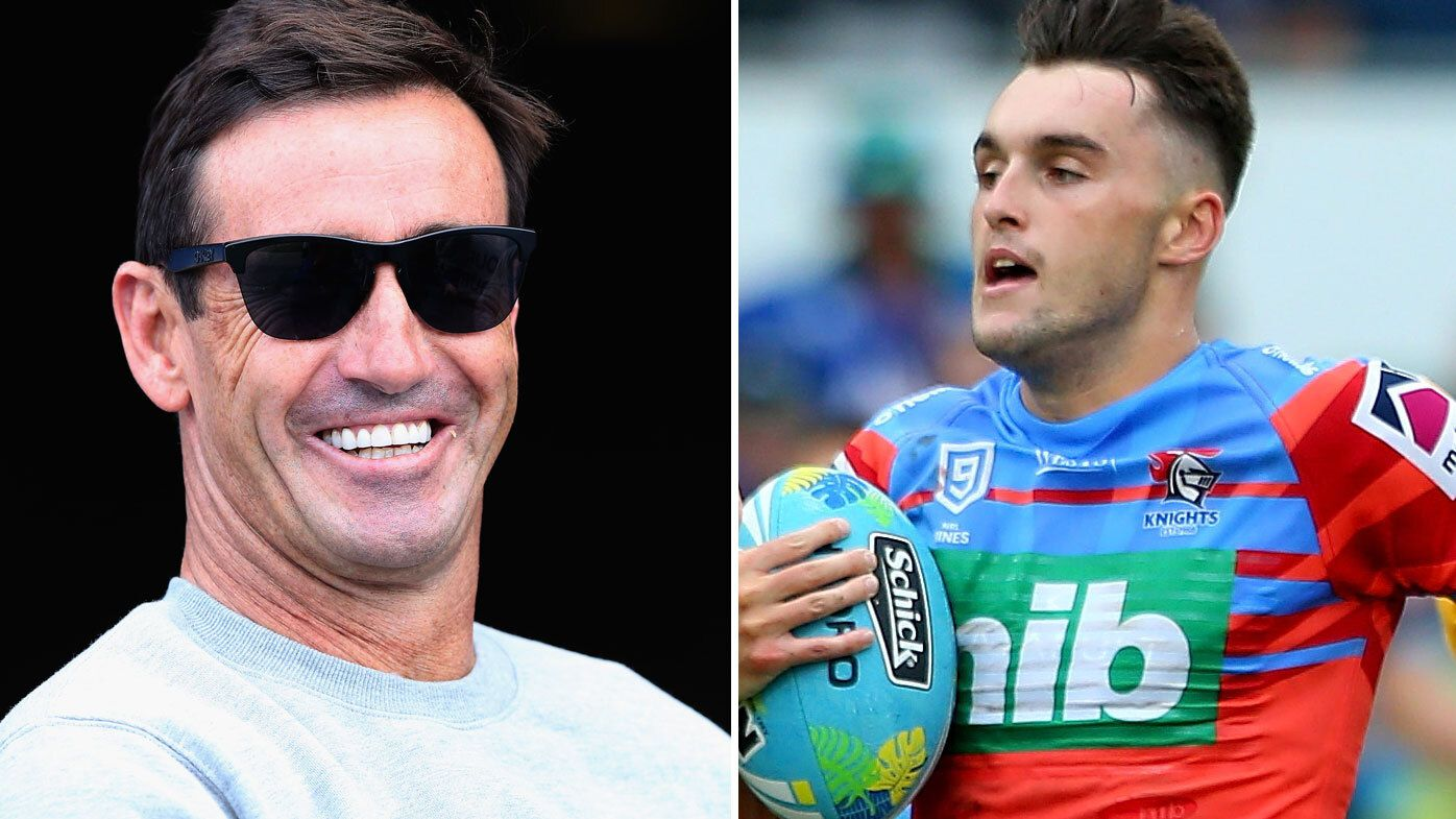 Andrew Johns and Tex Hoy