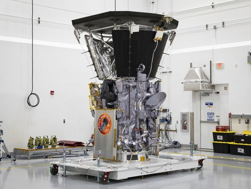 """NASA's Parker Solar Probe will be the first spacecraft to """"touch"""" the sun, hurtling through the sizzling solar atmosphere and coming within just 6 million kilometres of the surface. (Ed Whitman/Johns Hopkins APL/NASA via AP)"""