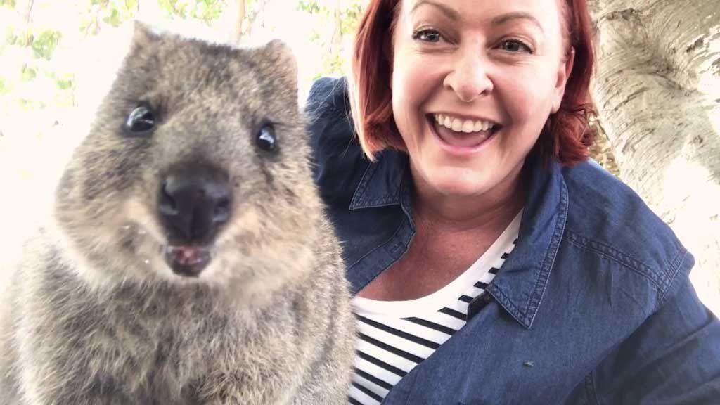 Shelly Horton quokka selfie