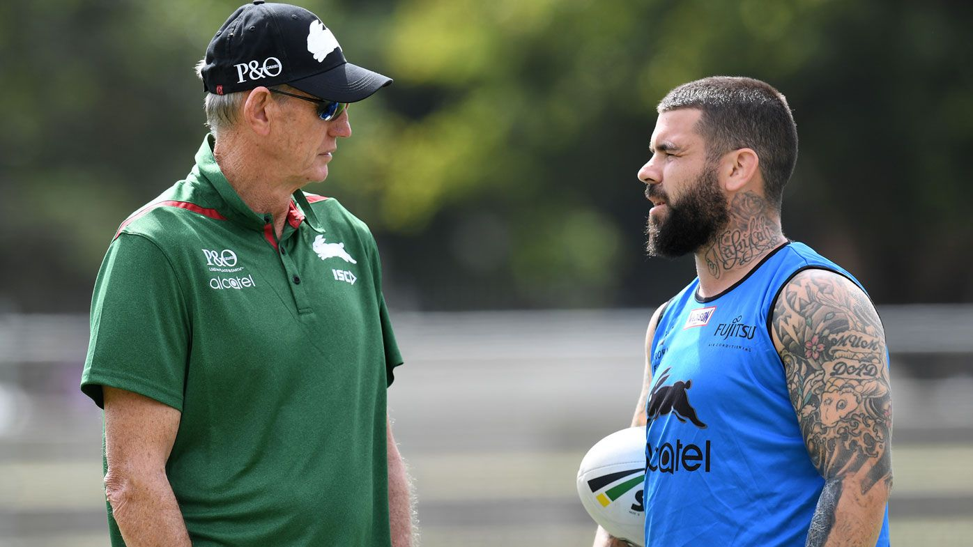 Adam Reynolds bonds with old man Wayne Bennett at South Sydney Rabbitohs