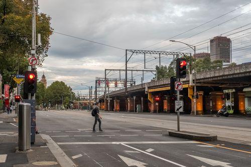 Coronavirus stress Melbourne empty street