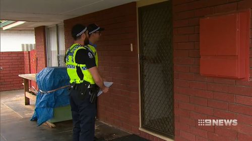 Officers are also door knocking homes in the area.