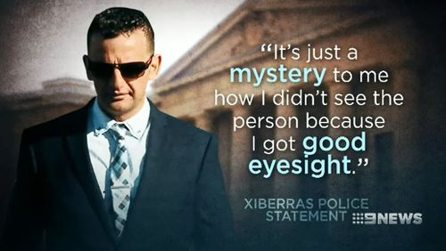 The court heard Xiberras's police statement on the day of the crash. Picture: 9NEWS