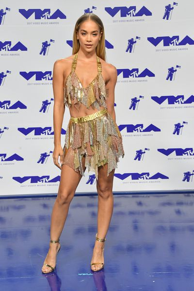 <p>WIN </p> <p>Jasmine Saunders in Moschino at the MTV VMAs in LA on August 29.</p> <p>Go go glory.</p>