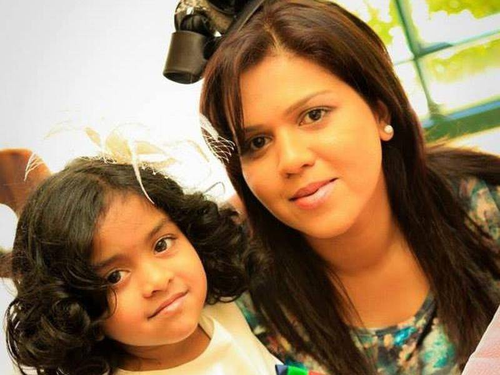 Manik Suriyaaratchi and daughter Alexendria