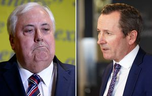 Clive Palmer hits back against WA's premier over 'declaration of war' comments