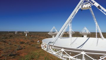 CSIRO's Australian Square Kilometre Array Pathfinder (ASKAP) radio telescope at the Murchison Radio-astronomy Observatory in Western Australia.