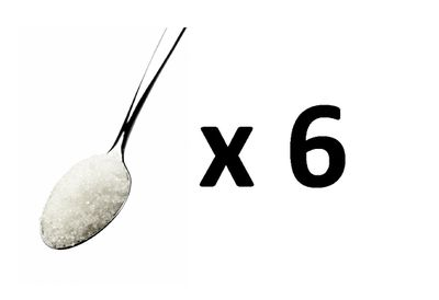 <strong>Answer: B - 6 teaspoons of sugar</strong>