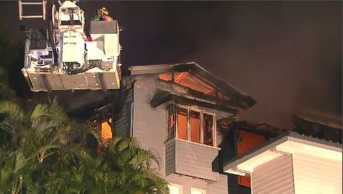 More than 40 firefighters fought the blaze. (9NEWS)