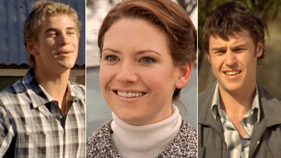 Liam Hemsworth, Anna Torv and Rodger Corser on McLeod's Daughters.