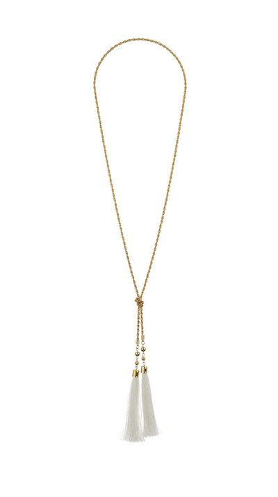 "<a href=""http://www.topshop.com/en/tsuk/product/bags-accessories-1702216/jewellery-469/tassel-drop-necklace-4120049?bi=201&ps=200"">Tassel Drop Necklace, approx. $24, Topshop</a>"