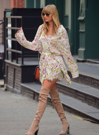 """<p><a href=""""https://style.nine.com.au/2018/07/12/11/28/taylor-swift-pattie-boyd-harpers-bazaar"""" target=""""_blank"""" title=""""Taylor Swift """" draggable=""""false"""">Taylor Swift </a>is back home for the New York leg of her<a href=""""https://style.nine.com.au/2017/09/04/13/46/style_taylor-swifts-best-beauty-looks"""" target=""""_blank"""" title="""" Reputation tour"""" draggable=""""false""""> Reputation tour</a> and is making sure we know about it, because when you&rsquo;re Taylor Swift you don&rsquo;t need a runway to strut your stuff.</p> <p>The singer has used the streets of New York as her <a href=""""https://style.nine.com.au/2017/09/04/13/46/style_taylor-swifts-best-beauty-looks"""" target=""""_blank"""" title=""""personal catwalk"""" draggable=""""false"""">personal catwalk</a> the last week, showcasing her long pins and raising the bar when it comes to street style.</p> <p>Weather it&rsquo;s a hot pink New York City hoodie from Balenciaga (worth a staggering $1204.71) or floral Faith Connexion Wrap Shirtdress, the 28 year-old has dressed the part for the paparazzi outside her door, using every moment to show off a new look and looking every inch the star she is.</p> <p>Take a look at all the times we&rsquo;ve bowed down as we&rsquo;ve seen Tay Tay leaving her Tribeca apartment this week</p>"""